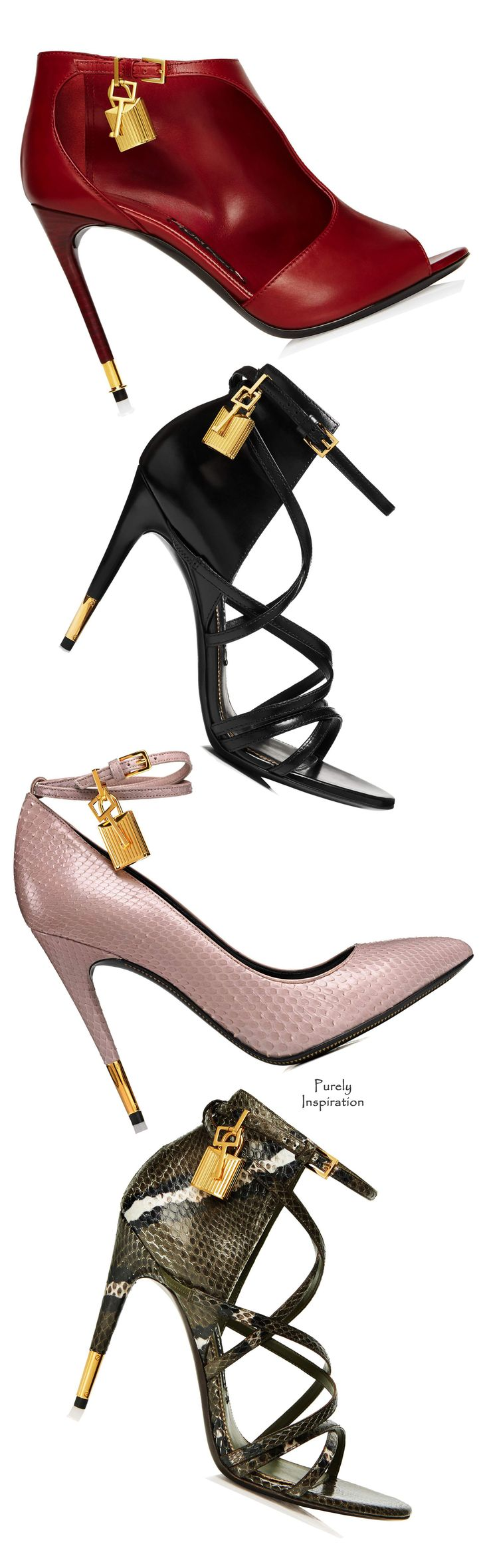 Tom Ford ~ Spring Padlock Leather Pumps, 2015