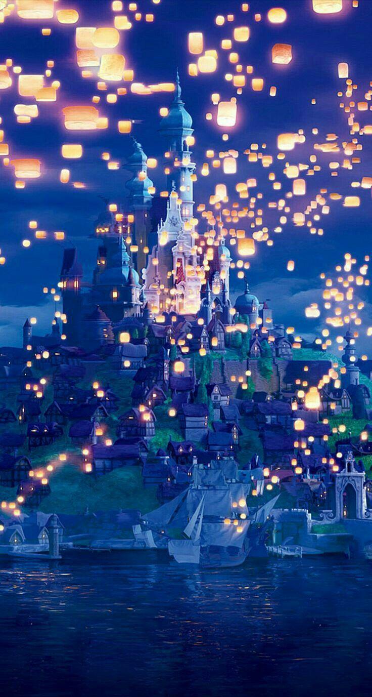 The Floating Lanterns Disney Wallpaper