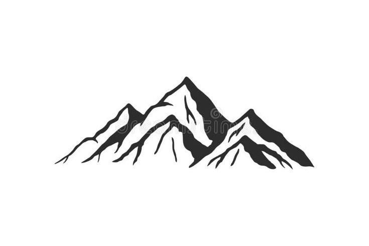 Mountain Silhouette Vector Icon Rocky Peaks Mountains Ranges Black And White Mountain Icon Royalty Fr Mountain Silhouette Mountain Drawing Mountain Tattoo