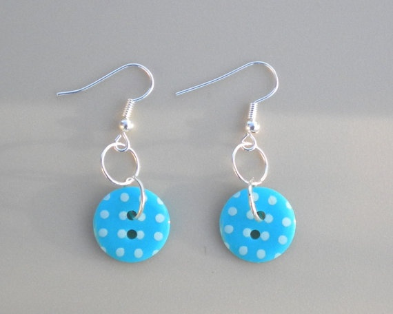 Polka dot button earrings