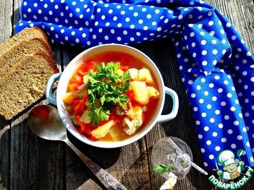 Нежный суп-гуляш из куриного филе - кулинарный рецепт