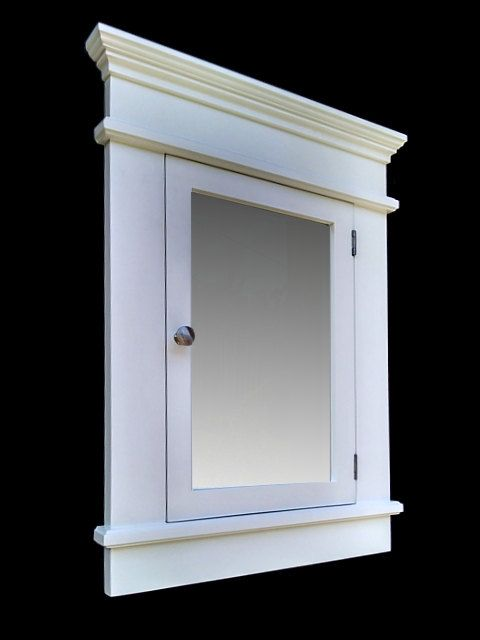 Chelsea White Recessed Medicine Cabinet / by AJCabinets on Etsy