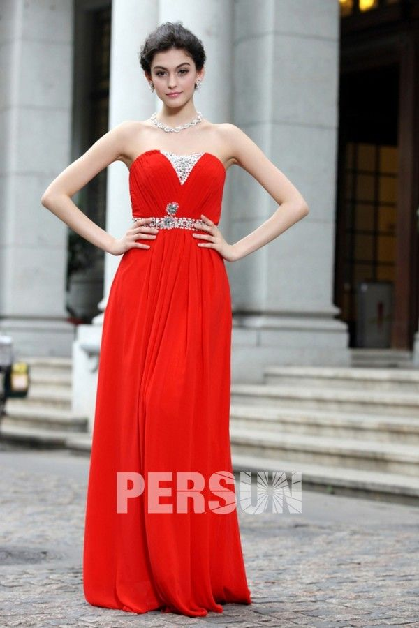 Opulence robe rouge