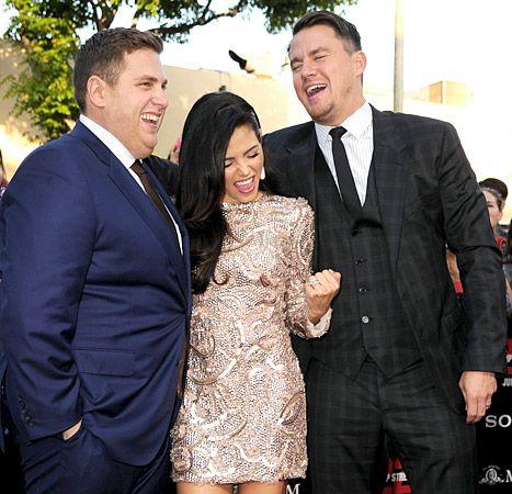 Jonah Hill, Jenna Dewan-Tatum and Channing Tatum attend the Premiere Of Columbia Pictures'