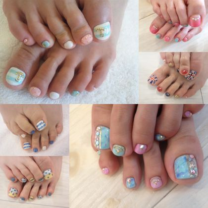 191 best toe nail art images on pinterest toe nail designs feet it is the introduction of the customers foot nail our salon prinsesfo Image collections