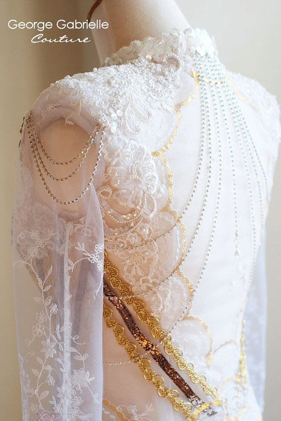 Indonesian Kebaya Wedding Dress Gown Custom by georgegabrielle, $2000.00  So pretty