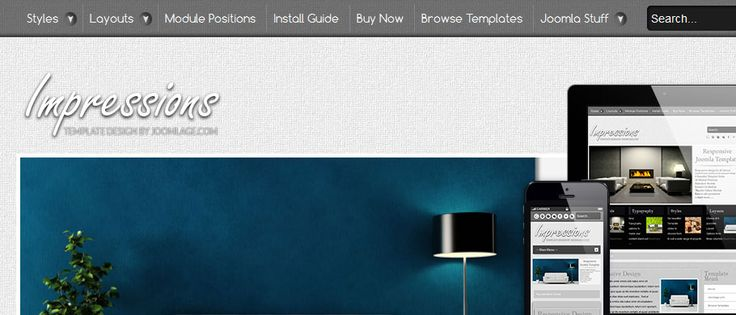 responsive joomla templae for interior design / furniture website.