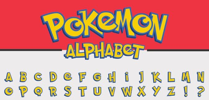 Printable Pokemon alphabet