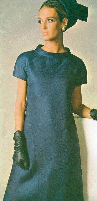 Deborah Dixon wearing Irene Galitzine, Vogue Italy, February 1966