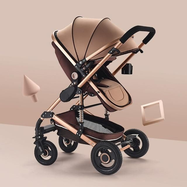 3 in 1 Travel System Baby Stroller,5-Point Harness and High Storage Basket Color : Gray Pram Stroller,Pushchair for Babies and Newborns