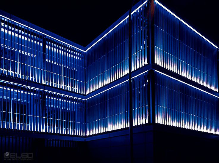 Lighting building facade design idea for led high power - Exterior architectural led lighting ...