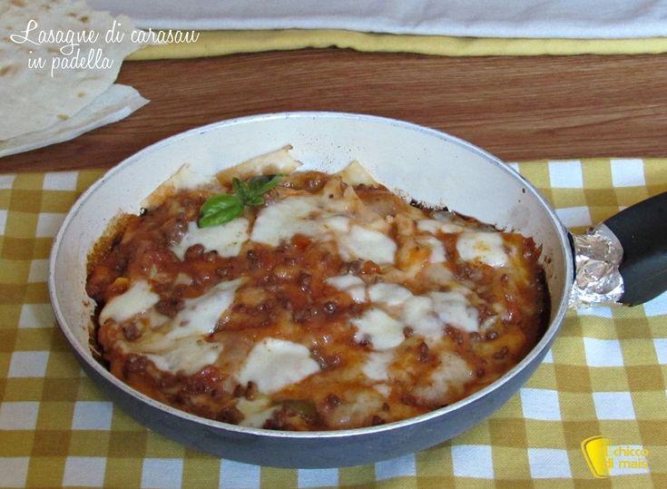 Lasagne+di+carasau+in+padella