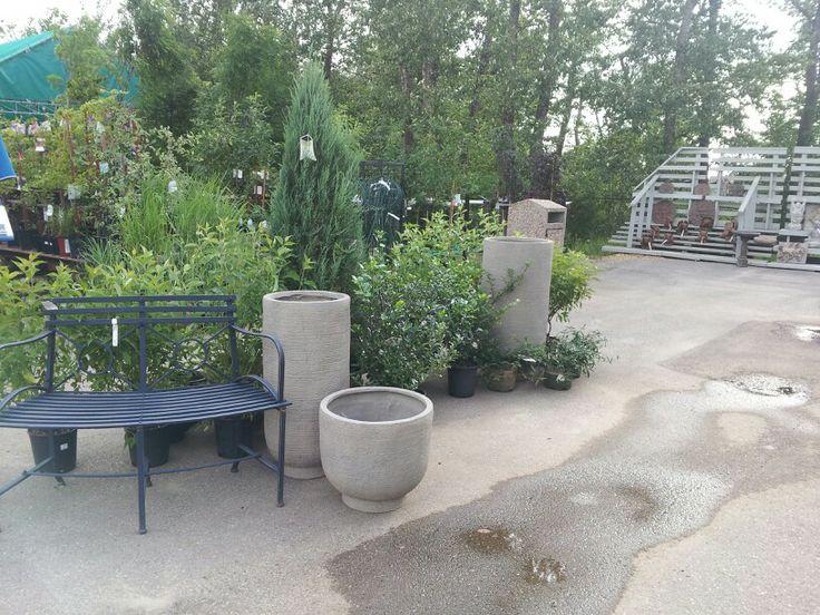 Fibreglass pots; summer 2012