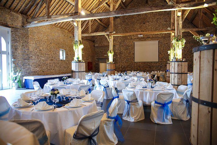 Report {Hélène and Xavier} Blue Wedding
