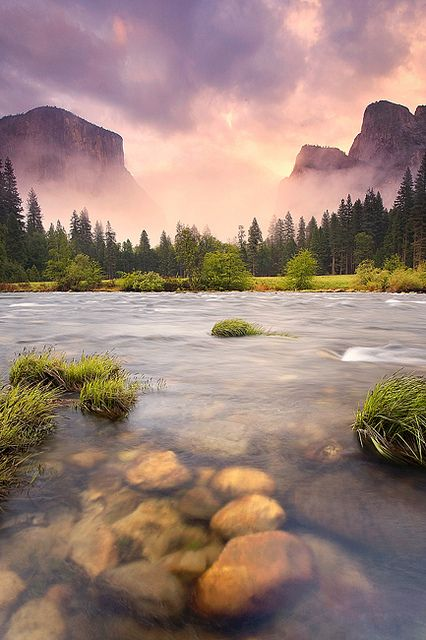 This warm shot of Valley Storm in Yosemite National Park, CA was snapped by Scott Hotaling.