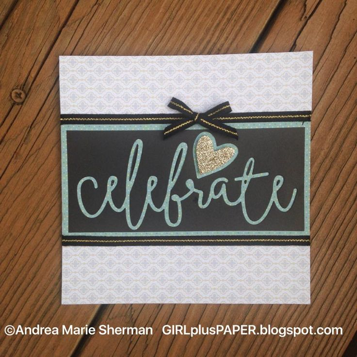 GIRLplusPAPER: CTMH Thin Cuts Celebrate Card for the Joyful Stars August 2016 Blog Hop
