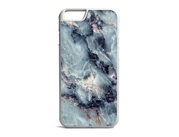 Electric Blue Marble Print Phone Case Marble by PrintedPrettyGifts