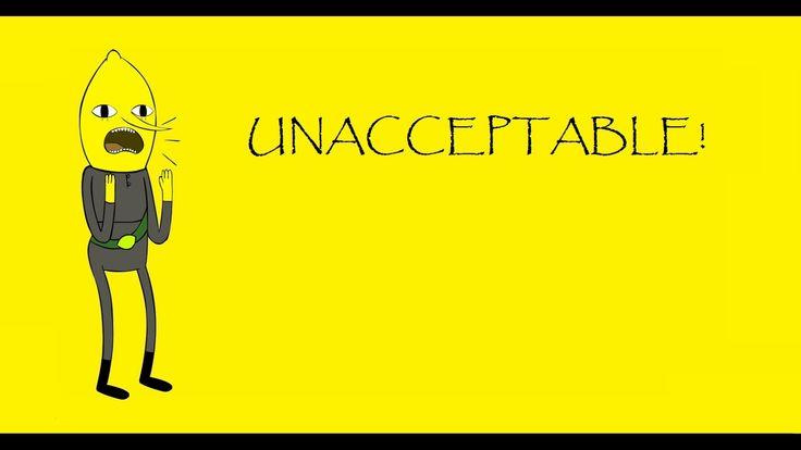 Pinterest Wallpaper Quotes Lemongrab Unacceptable Wallpaper Adventure Time
