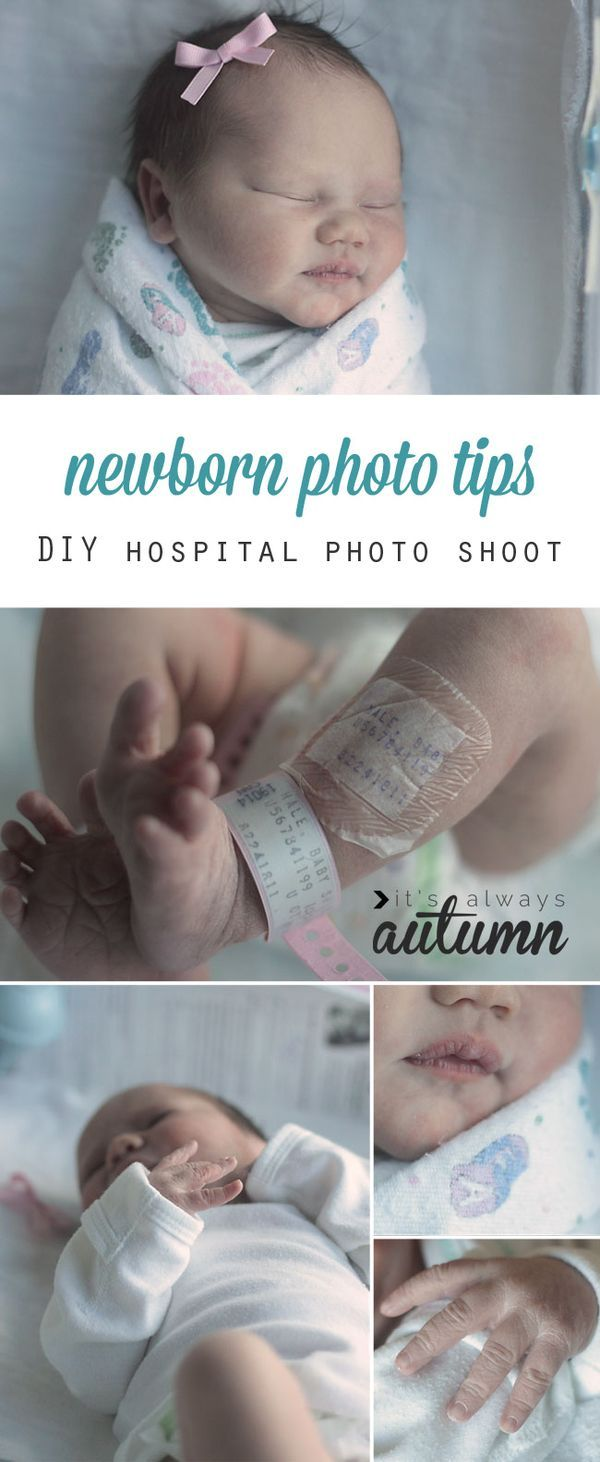 how to get great DIY newborn photos in the hospital | Learning and Babies
