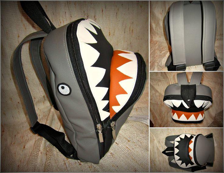 #kuzyo #bags #backbag #shark-shaped #design #trendy #fashion #photo