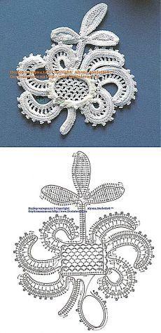 Irische Spitze häkeln - irish crochet motif..