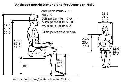 Ergonomic Chair Dimensions Wheelchair Code Average Man Height Of The Human Figure | Codes And Standards Dimension ...