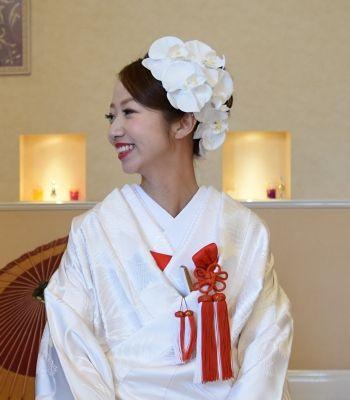 胡蝶蘭の髪飾り 税込864円 結婚式 披露宴 成人式 綺麗な花嫁さん 特別