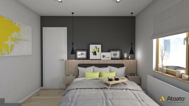 #atoato.pl #interior #design #scandinavian #style #kitchen #bed #wood #colors #projektywnętrz #pasja #wnętrza #sypialnia #biel #drewno #żółty