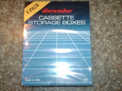 Discwasher Cassette Storage Boxes 4 pack