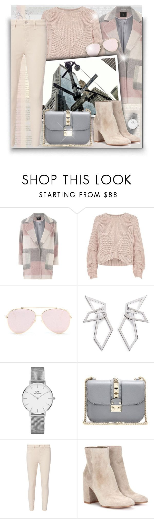 """What to Wear in NY!"" by asia-12 ❤ liked on Polyvore featuring Dorothy Perkins, River Island, W. Britt, Daniel Wellington, Valentino, L'Agence, Gianvito Rossi and NYFW"