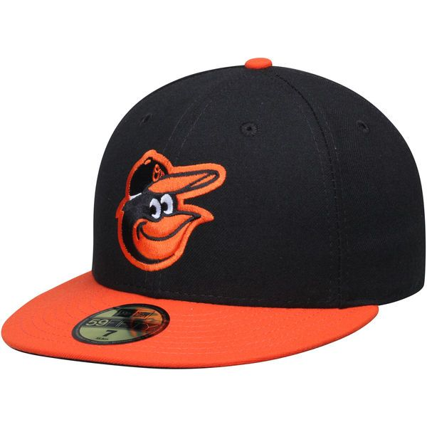 Baltimore Orioles New Era Men's Road Authentic Collection On-Field 59FIFTY Performance Fitted Hat - Black - $34.99