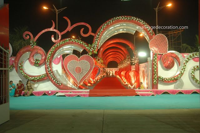 Marriage hall gate entrance my dream wedding Valentine stage decorations