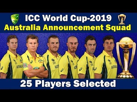 Here Is The Complete Team Of Australia For Cricket World Cup 2019 Steve Smith David Warner Is Back In The Team Cwc19 Cwc201 Cricket World Cup World Cup Cricket