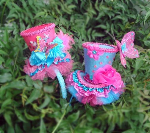 Mini Top Hat Headbands by daisiemae2000, via Flickr