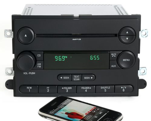 2007 Ford Mustang AM FM mp3 CD Player Radio. OEM Radio Upgraded with Bluetooth Music Capability. Stream audio from a smart phone, tablet or Bluetooth capable music device! Part Number: 7R3T-18C869-AF.