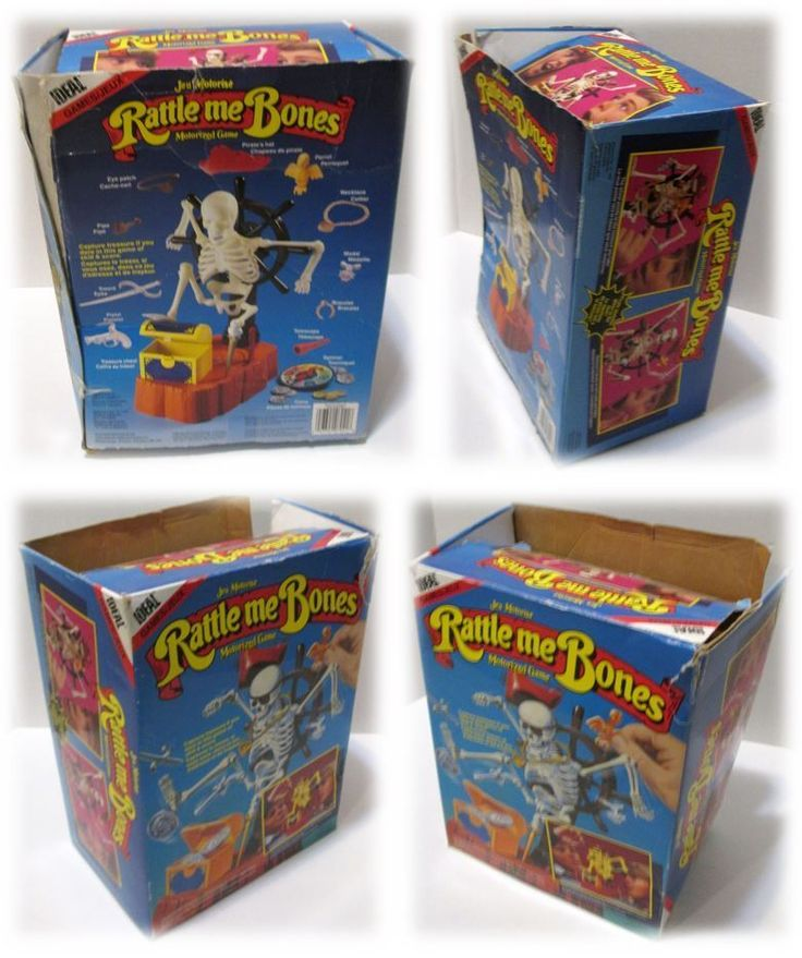 Vintage Ideal Games RATTLE ME BONES -incomplete box and manual #IdealGames