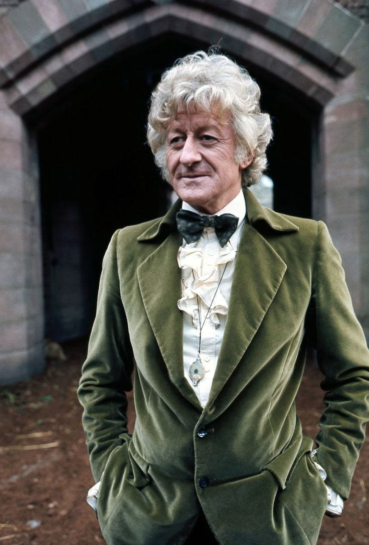 No one pulls off a velvet suit and ruffled shirt like Jon Pertwee, the Third Doctor.
