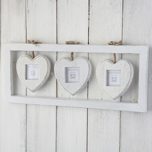 Trio Box Heart Photo Frame: Corazones Heart, Boxes Heart, Vintage Shabby Chic, Style Photo, Hanging Heart, Photo Frames, Heart Photo, A Frames, Vintage Style