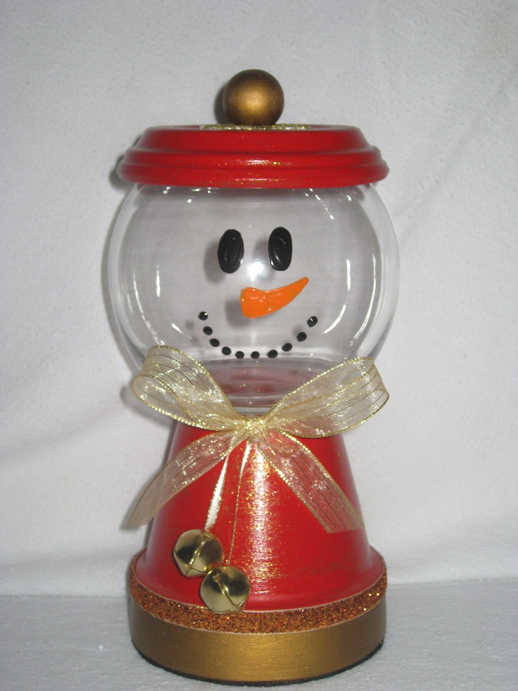 Christmas Candy Jar -- I may have to try this.... too cute  #Christmas