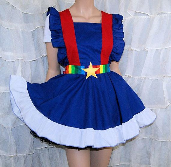 Rainbow Brite Cosplay Pinafore Apron Costume Skirt by mtcoffinz, $100.00