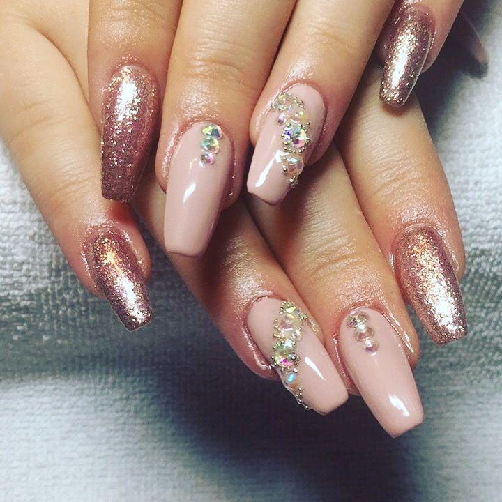 Cinderella Blue Acrylic Nails