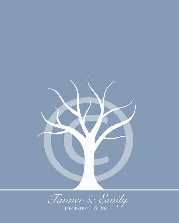blue background tree template