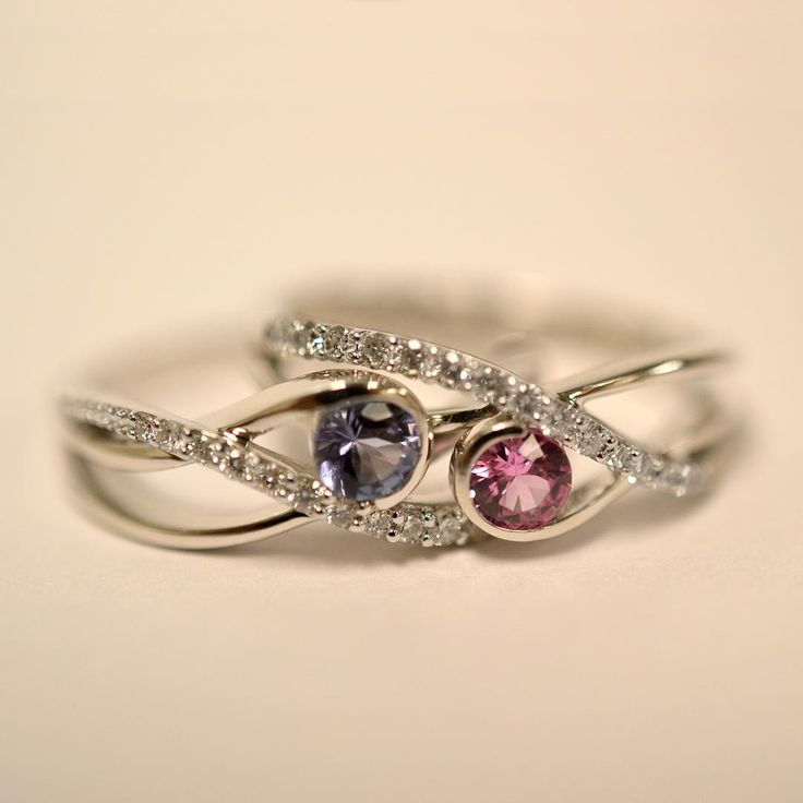 Matching #rings are perfect as #friendship rings!(bestie birthstone)