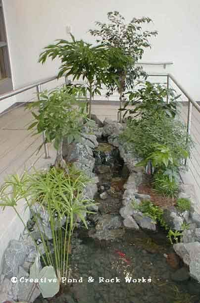 59 best images about interior landscaping design on for Artificial pond in garden