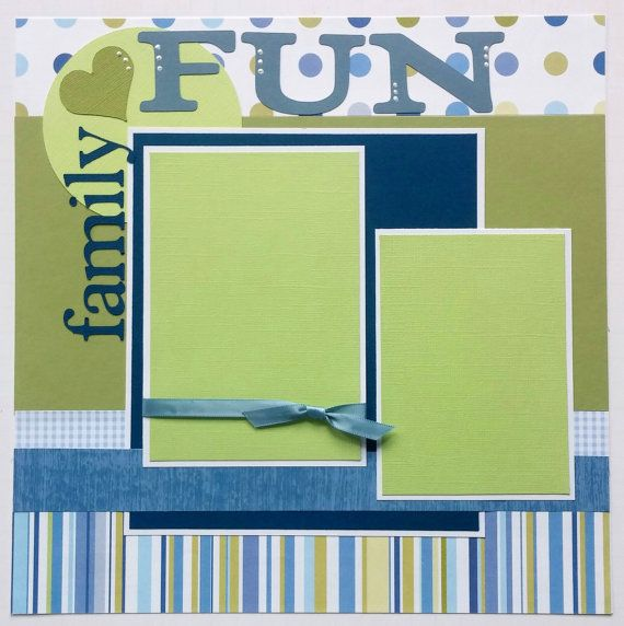 This is a one page 12x12 premade scrapbook layout page. There are two mats which will hold one 4x6 photo and one 3.5x5 photo. Cute, bright layout that is very versatile. Great for any day when the family gets together for a day of fun. Perfect for extended family get togethers such as reunions, a day at grandma and grandpas or fun with the cousins. Thanks for looking! Check back often! New layouts added weekly. The Ohioscrapper shop with over 100 premade scrapbook layouts in a variety of…
