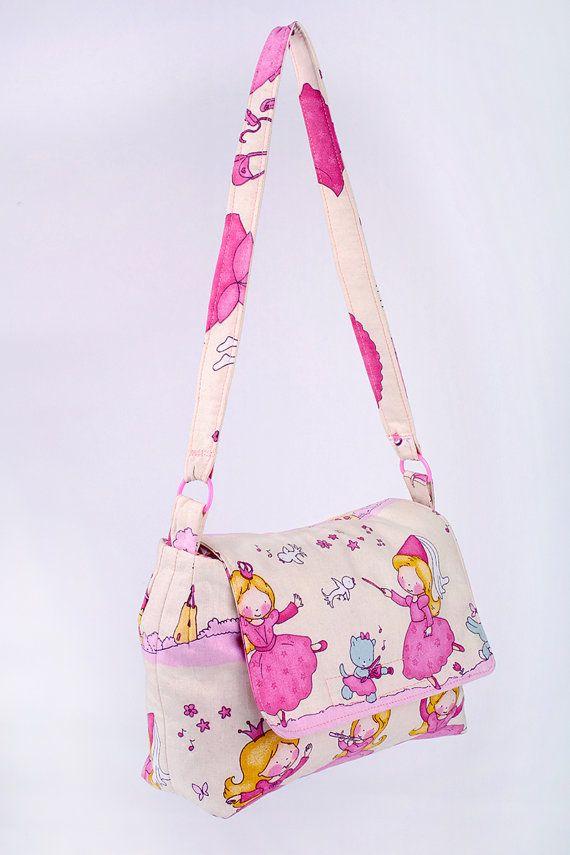 kids bag girl handbag fabric handbag princess by MoniceBoutique, €18.00