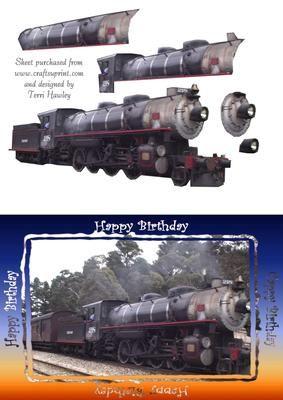 birthday train on Craftsuprint - Add To Basket!