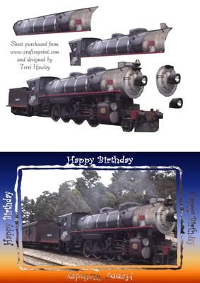birthday train on Craftsuprint - Add To Basket!