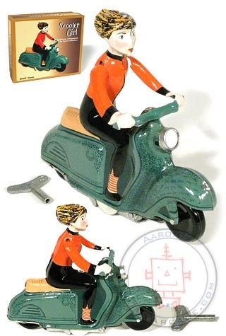 Fun little wind-up toy - such a great site that I've bookmarked and check back often.  You can't always find cool things like this. :o) This is $20 US right now on sale.