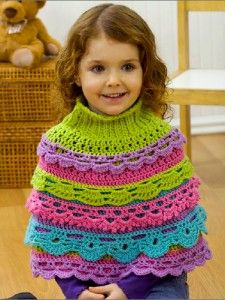 Girls's Ruffle Caplet (and more great free ruffle crochet patterns!) via mooglyblog.com #crochet